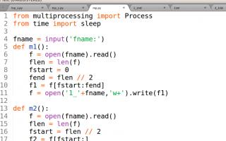 Python创建父子进程,分别将一个文件的上半部分和下半部分复制到一个新的文件中。创建进程方法自选