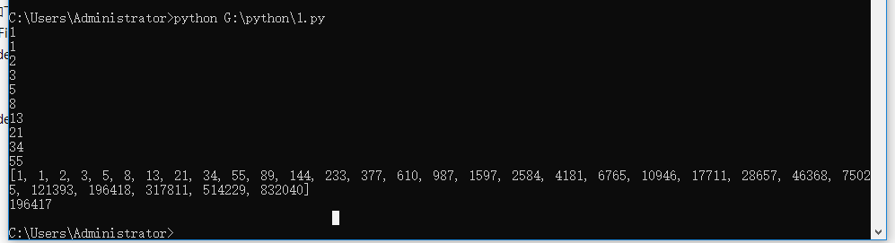 Python写一个类,Fibonacci 实现迭代器协议,此类的对象可以作为可迭代对象生成相应的斐波那契数运行结果